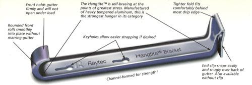 5 Raytec Hangtite Gutter Hanger With Clip Gt 5 Quot Gutter Hangers